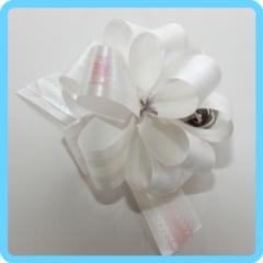 Бант подарочный белый с лентой 3 см