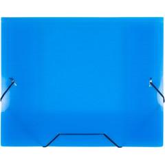 Папка на резинках Attache А5 пластиковая синяя (0.6 мм, до 100 листов)