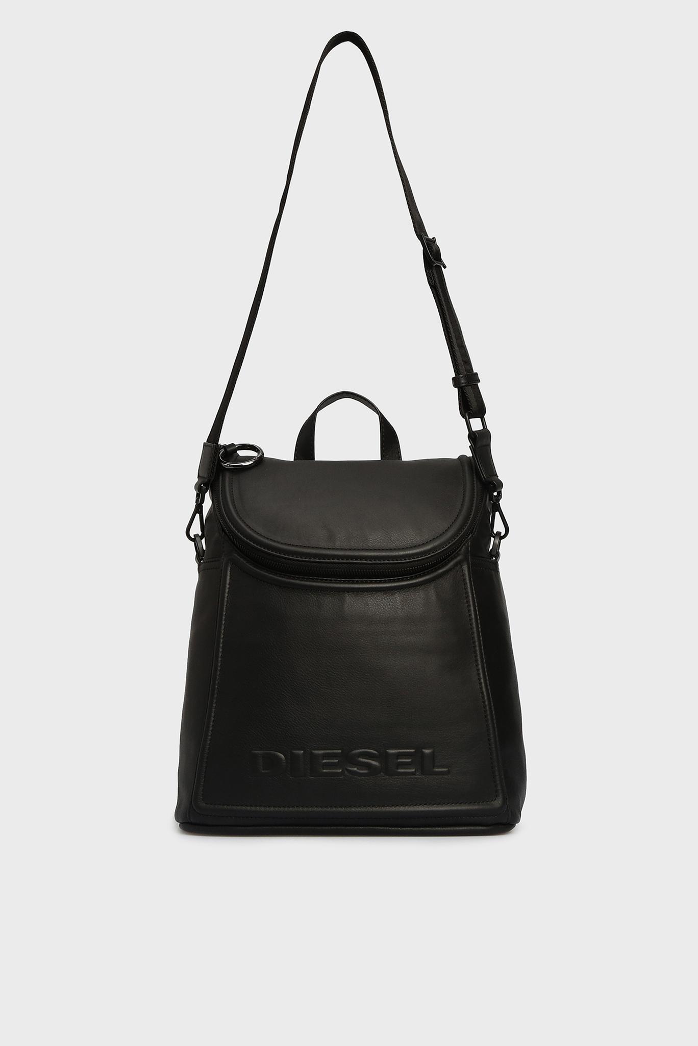 Женский черный кожаный рюкзак SPYNEA Diesel