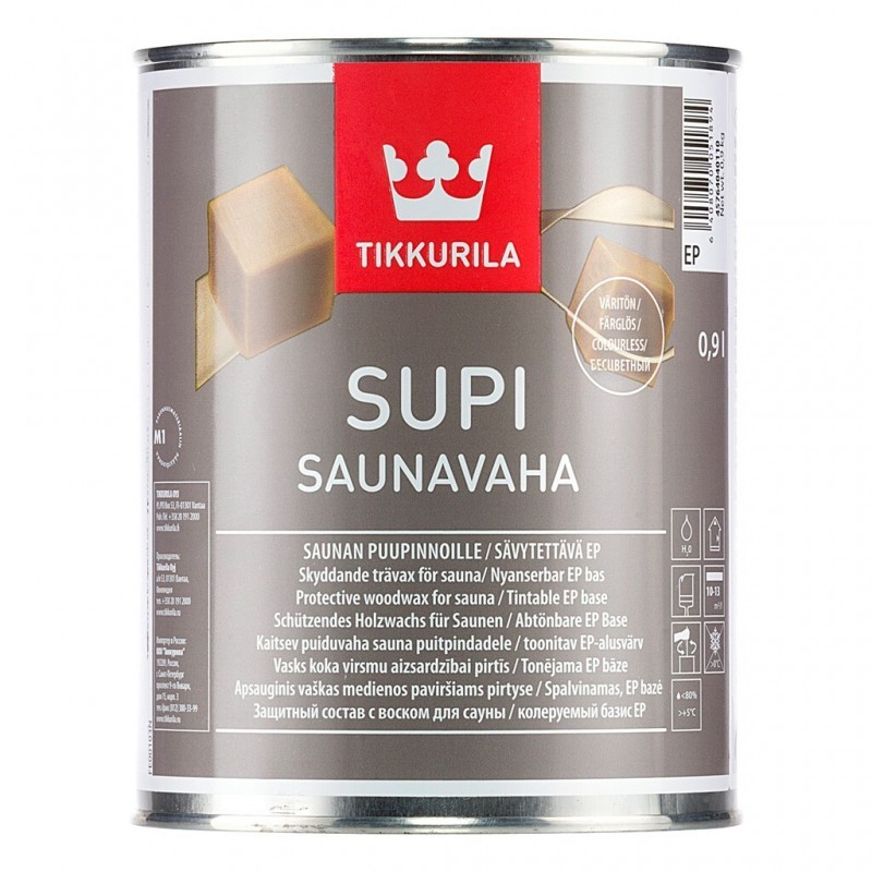 Tikkurila Supi Saunavaha защитный воск для саун