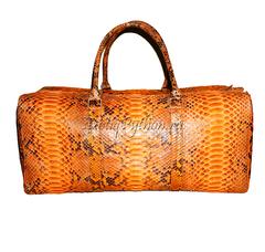 Дорожная сумка из кожи питона BG-205