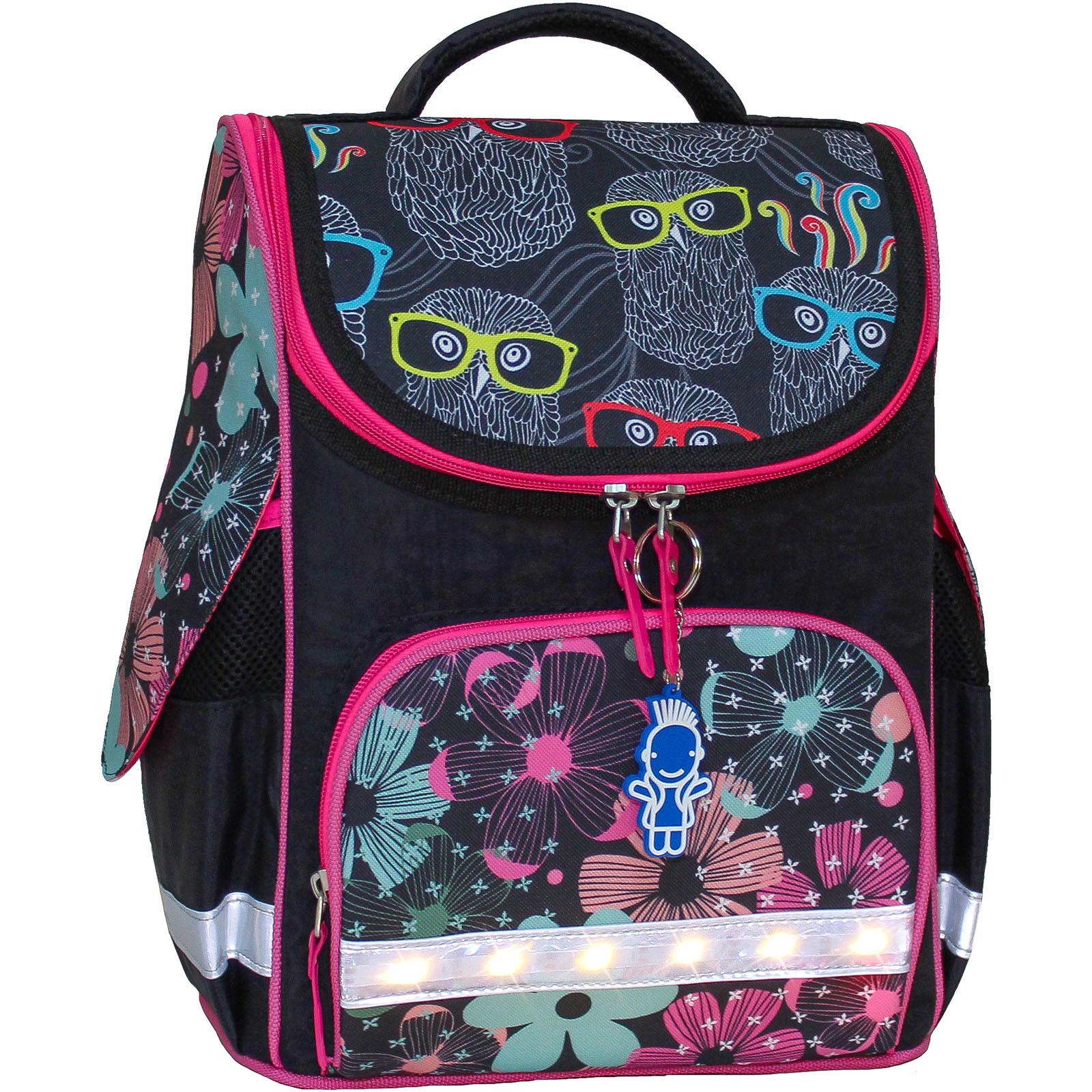 Школьные рюкзаки Рюкзак школьный каркасный с фонариками Bagland Успех 12 л. черный 403 (00551703) IMG_8152.JPG