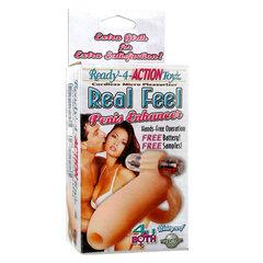Телесная расширяющая насадка с петлей для мошонки Ready-4-Action Real Feel