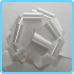Бант подарочный белый 3 см