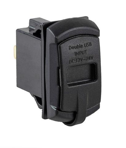 Разъем USB 5 В, 4.2 А и вольтметр для установки совместно с кнопками AES11185X или AES1188X