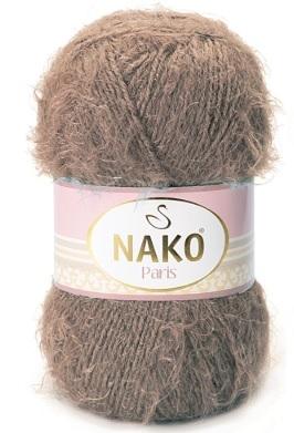 Пряжа Nako Paris 3890 коричневый