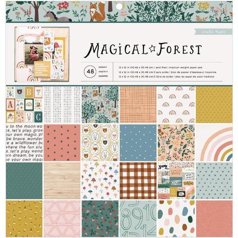 Набор двусторонней бумаги Magical Forest от Crate Paper -30х30см - 48 листов