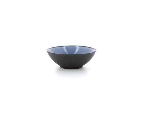 Фарфоровая глубокая тарелка Cirrus Blue 15 см, синяя, артикул 649589, серия Equinoxe