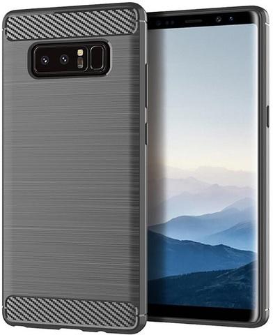 Чехол Samsung Galaxy Note 8  цвет Gray (серый), серия Carbon, Caseport