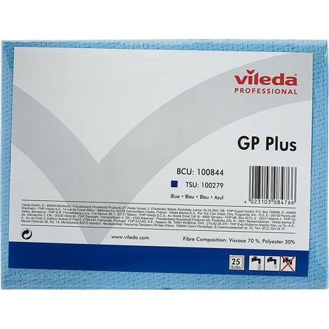 Салфетки хозяйственные Vileda Professional ДжиПи Плюс вискоза/ПЭС 50x35 см синие 25 штук в упаковке (арт. производителя 100844)