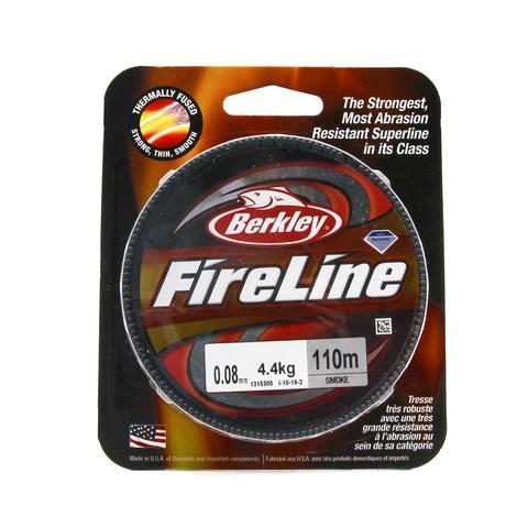 Плетеная леска Berkley Fireline 110M Темносерая 0,08mm Smoke