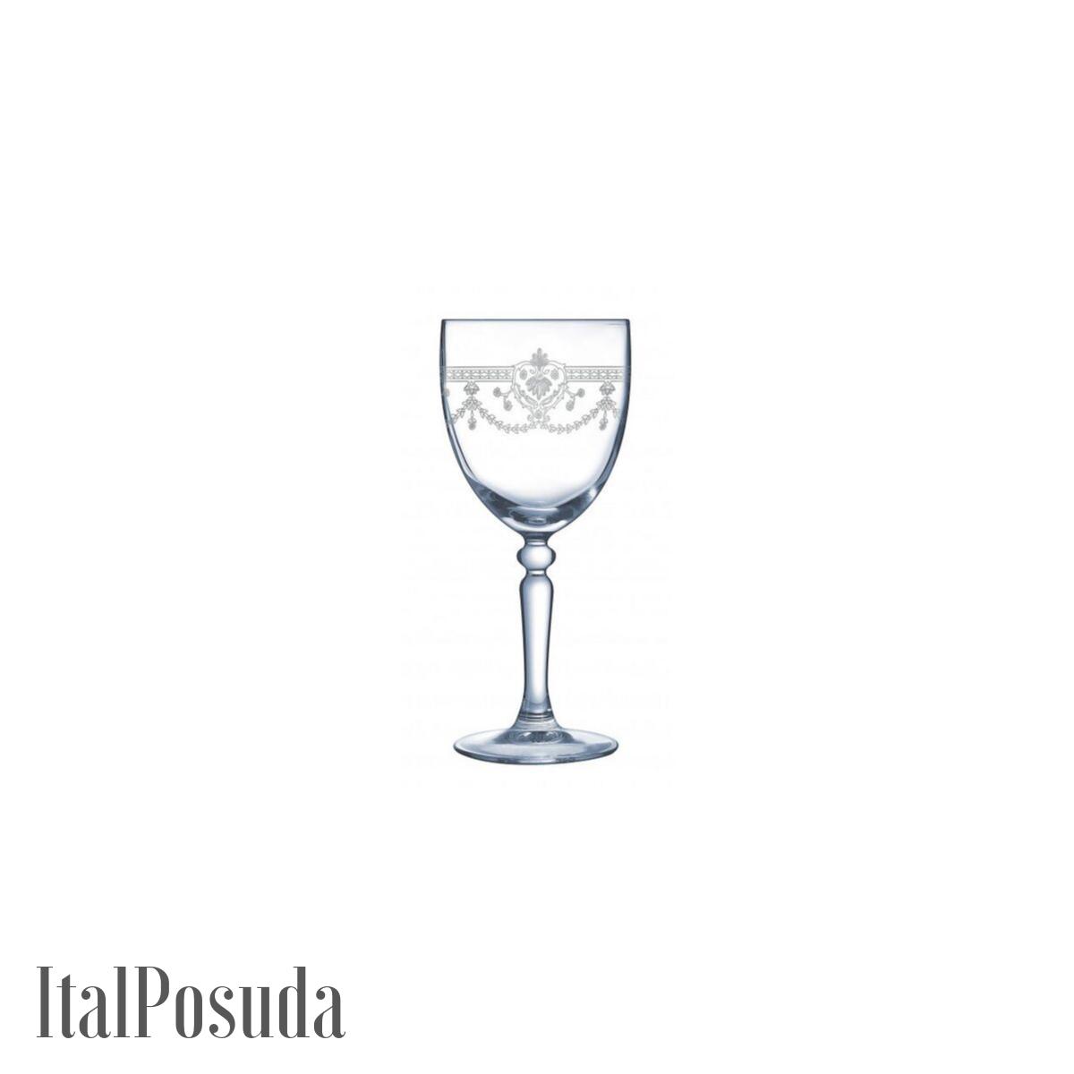 Набор бокалов для вина Cristal D'Arques Dampierre Silver (Дампьер Сильвер), 6 шт H7939
