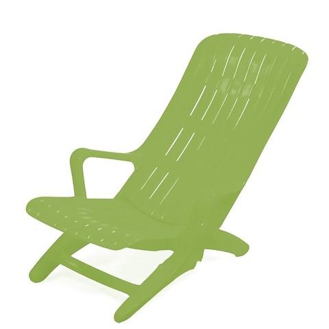 Пластиковый шезлонг №2 зеленый