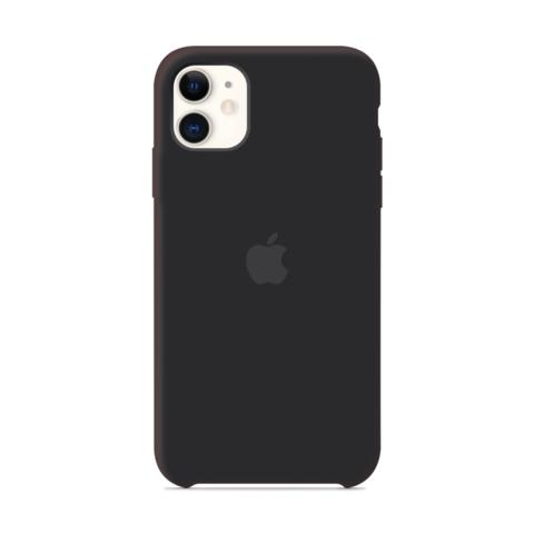 Чехол iPhone 11 Silicone Case /black/ черный 1:1