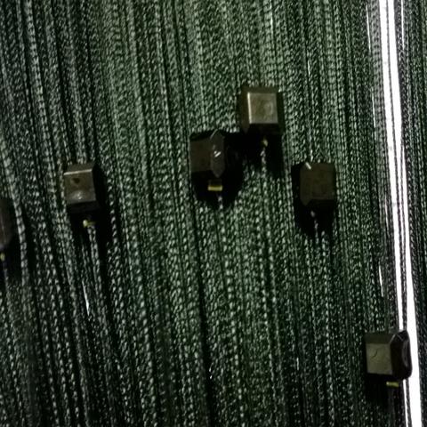 Веревочные шторы с бусинами (кубиками) - Черные. Ш-300см., В-280см. Арт.9