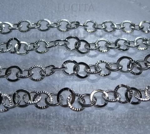 Цепь (цвет - серебро) 9 мм,  50 см ()