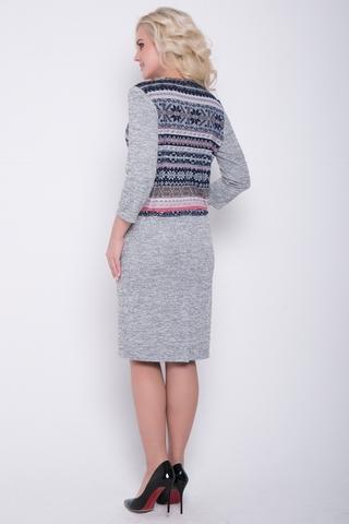 Яркое, стильное, уютное платье ждёт свою обладательницу. Платье с заниженной талией на кулиске с имитацией жилета. Потрясающий вариант для уверенной в себе дамы.Длина изделия 46р.-52р. :( 97-100см.)