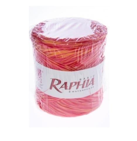 Рафия искусственная Микс Италия 200 м Цвет: красный/оранжевый