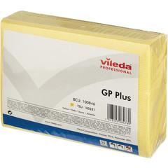 Салфетки хозяйственные Vileda Professional ДжиПи Плюс вискоза/ПЭС 50x35 см желтые 25 штук в упаковке (арт. производителя 100846)