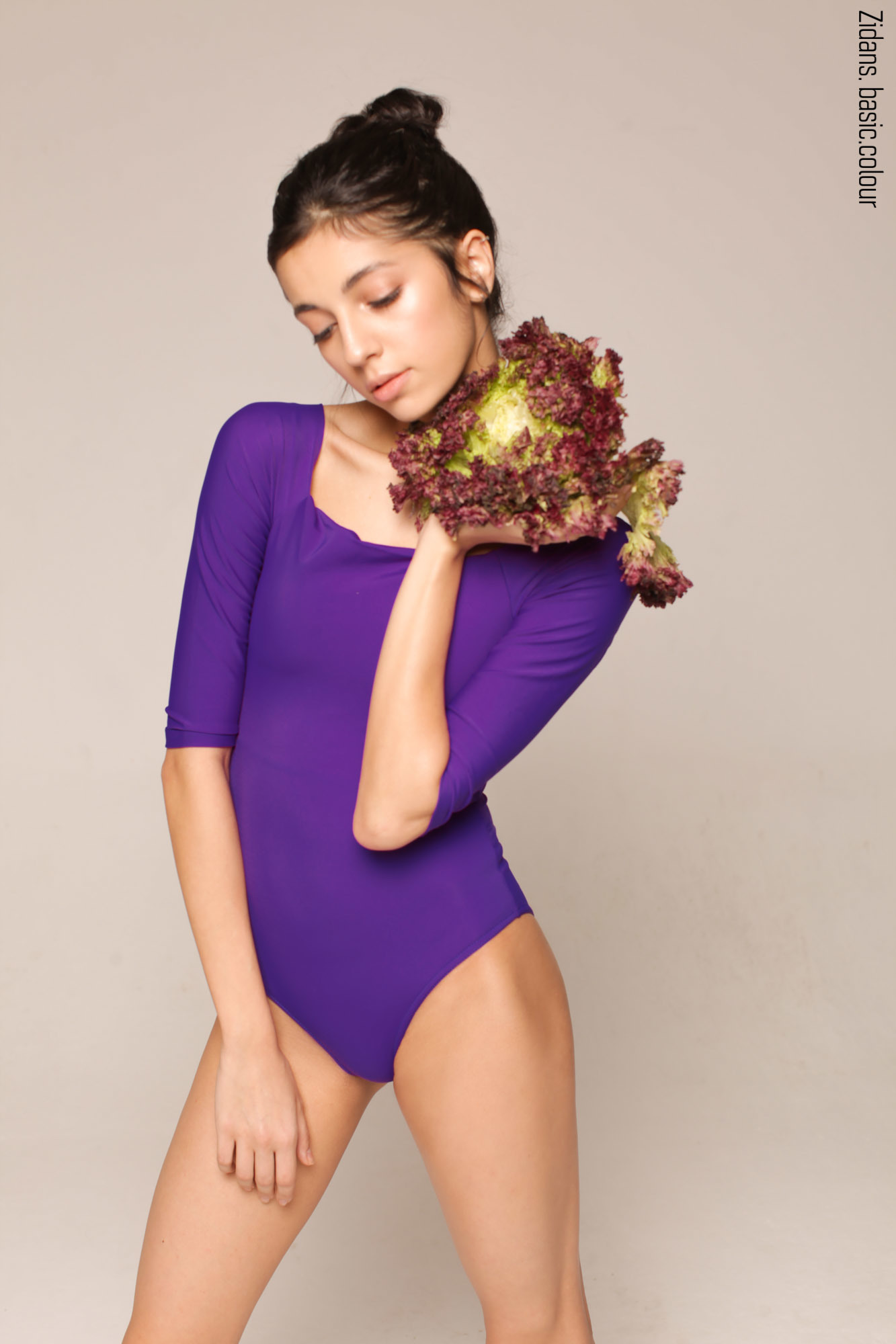 2 Sleeves leotard colour | violet