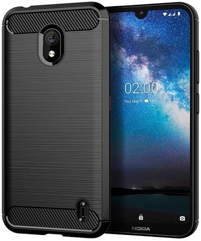 Чехол Nokia 2.2 цвет Black (черный), серия Carbon, Caseport