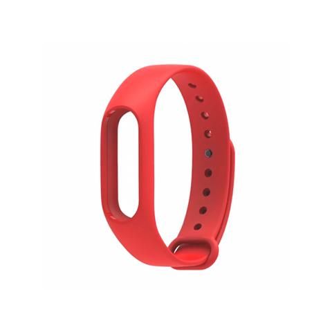 Сменный браслет Xiaomi Mi Band 3 однотонный (Красный)