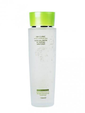 3W CLINIC Aloe Full Water Activating Skin Toner  тонер с  алоэ