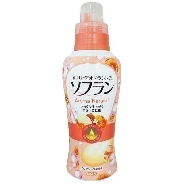 Кондиционер для белья, Lion, Soflan, Aroma natural, с нежным ароматом мыла, 650 мл