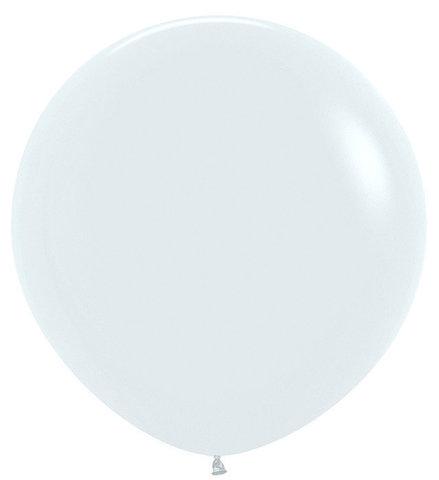 Шар (30''/76 см) Белый (005), пастель