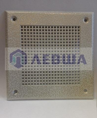 Решётка 150х150 мм, белый антик, перфорация мелкий квадрат - на магните