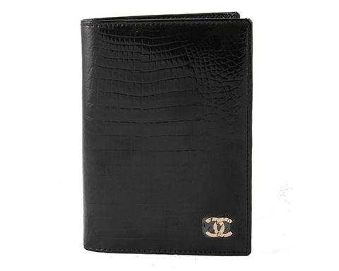Обложка для паспорта Chanel 9012 black