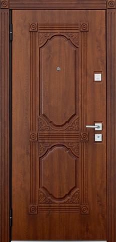 Дверь входная Бульдорс Mastino Lacio стальная, дуб медовый патина, 2 замка