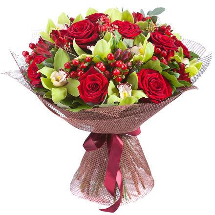 Купить шикарный букет с орхидеями в Перми