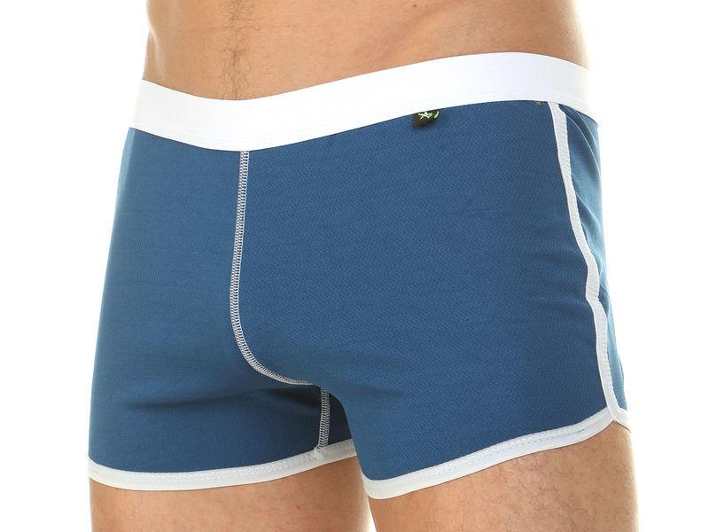 Мужские шорты домашние изумрудно-бирюзовый Van Baam 39846