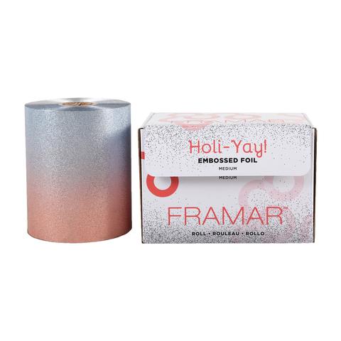 Embossed Roll Medium Holi-Yay 2019   Фольга в рулоне с тиснением «Вдохновение праздника»