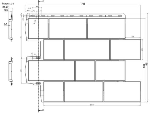 Фасадная панель Альта Профиль Туф Камчатский 796х591 мм