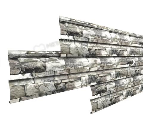 Металлический сайдинг под брус Металл Профиль Ecosteel Белый Камень