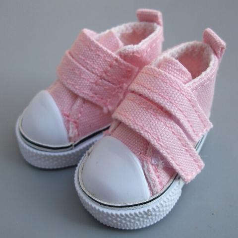 Взуття для ляльки Let's make Кеди на липучці рожеві