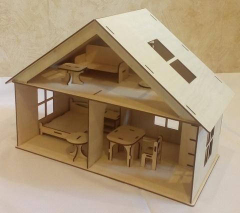 Домик для кукол с мебелью 9предметов