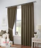 Длинные шторы. Тоскана (светло-коричневый) рогожка.