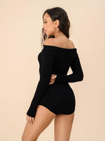 Женское боди черного цвета из вискозы - фото 2