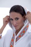 Стильный вафельный халат с капюшоном Luna di Giorno