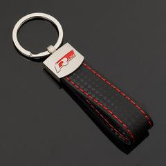 Брелок Ауди Р лайн (Audi  R-line) для ключей автомобиля с логотипом, красный