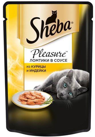 "Корм для кошек Sheba pleasure ""Из курицы и индейки"" 85г"