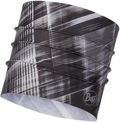 Широкая спортивная повязка на голову Buff Headband Wide CoolNet B-Magik Grey
