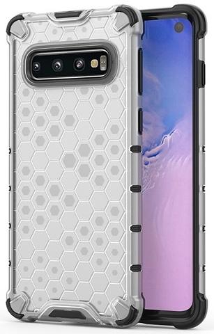 Чехол на Samsung Galaxy S10 прозрачный корпус, Caseport, серия Honey