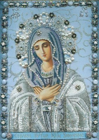 Алмазная Мозаика 30x40 Икона Богородицы Умиление (арт. BDF75196)