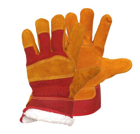 Утепленные спилковые перчатки РУССКИЕ ЛЬВЫ