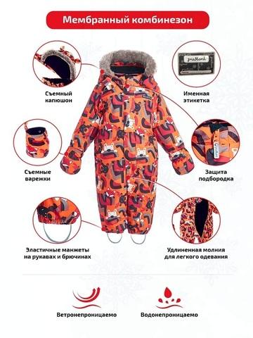 Premont Зимний комбинезон Веселые истории Клиффорда WP93063 ORANGE