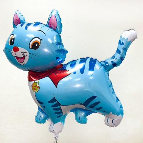 Фольгированный шар Котенок голубой